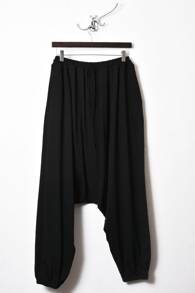 UNCONDITIONAL SS16 black elasticated cuff mens harem trousers.