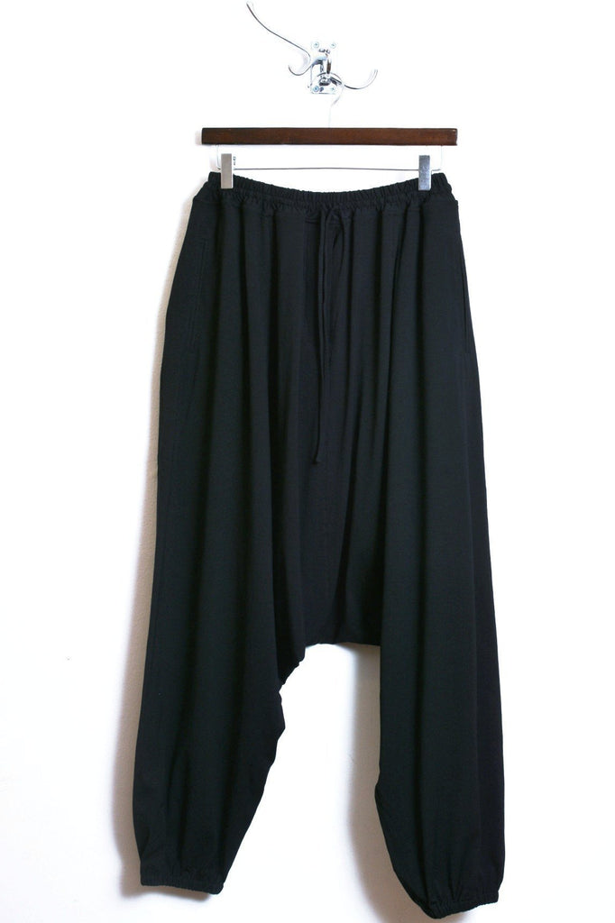 UNCONDITIONAL Navy elasticated cuff mens harem trousers.
