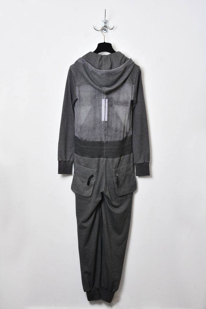 UNCONDITIONAL SS16 ladies military cold dye hooded jump suit.