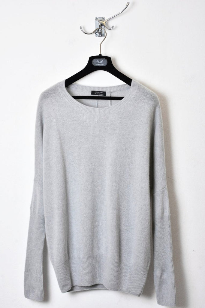 UNCONDITIONAL AW18 cement grey cashmere oversized crew neck jumper.