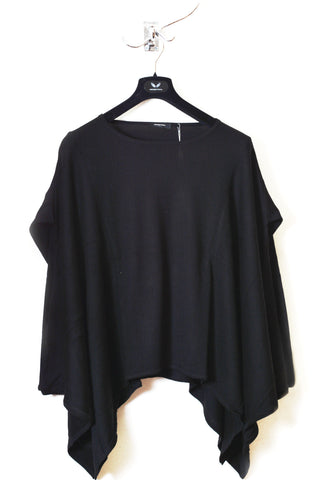 UNCONDITIONAL white and black long sleeve romantic blouse.