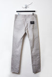 UNCONDITIONAL Sand cold dye mixed cotton patchwork slim jeans