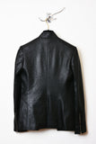 UNCONDITIONAL Black Matt foiled , Vegan leather look, cutaway jacket.