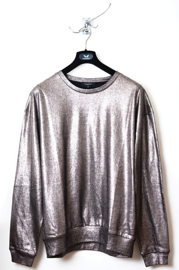 UNCONDITIONAL Oversized bronze foiled cotton sweatshirt