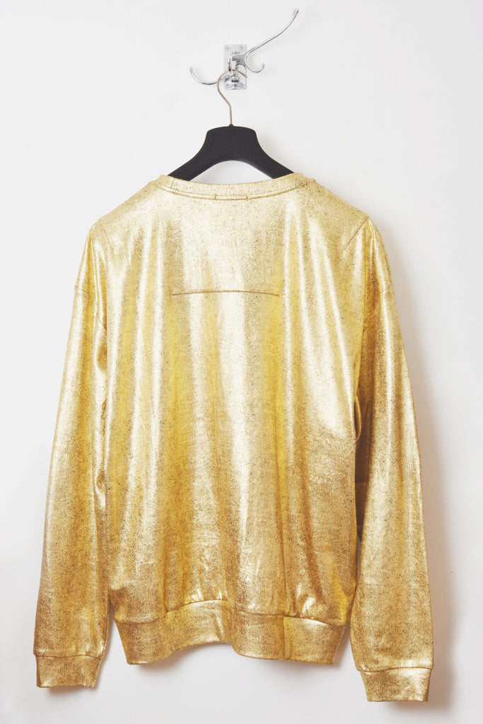 UNCONDITIONAL SS19 oversized gold foil cotton sweatshirt