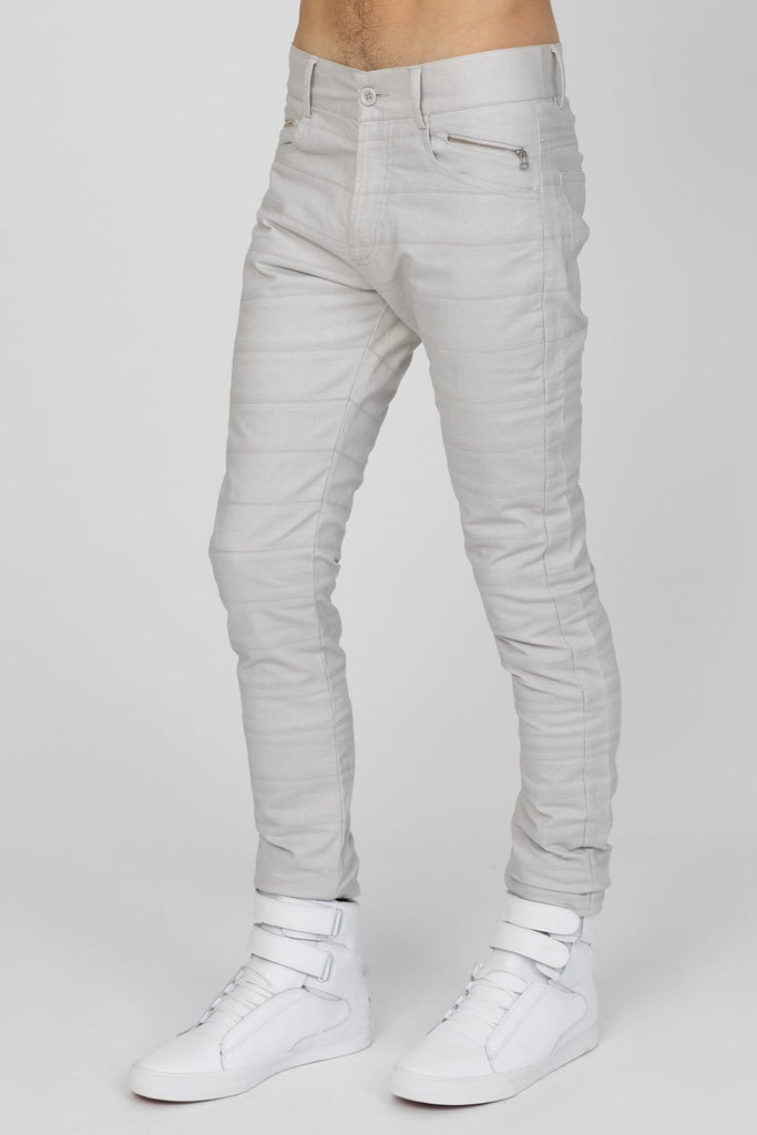 UNCONDITIONAL Stone skinny jeans cut in striped panels in light denim tr107stripes