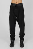 UNCONDITIONAL Black tailored trousers with sporty rib waistband & cuffs
