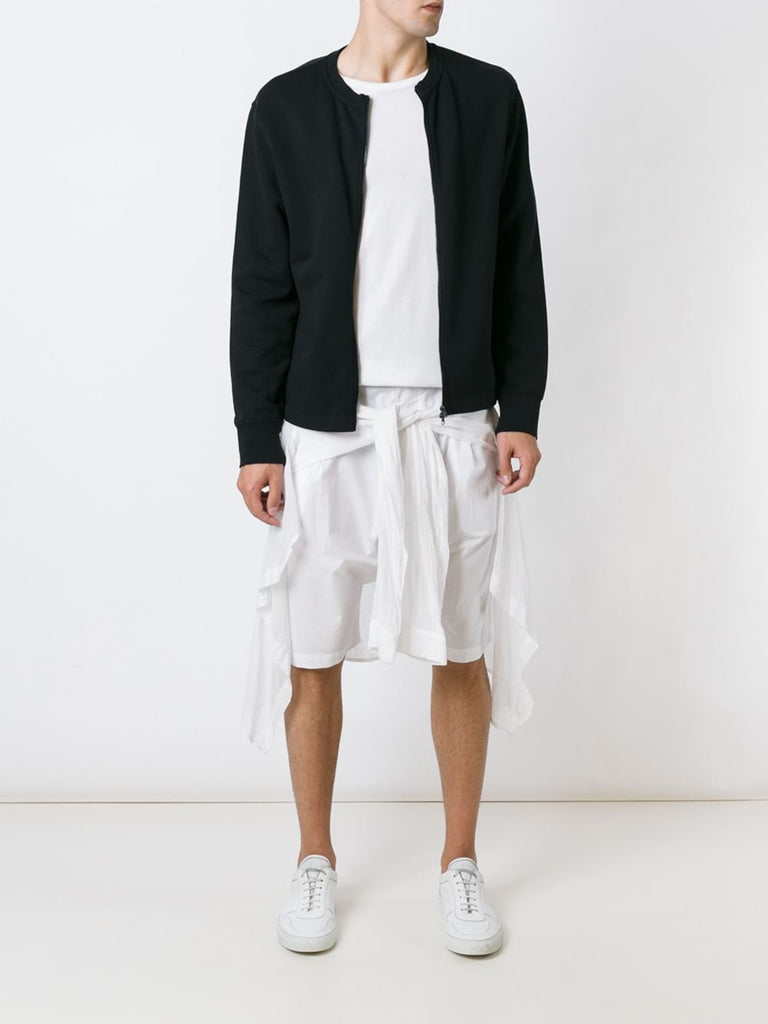 UNCONDITIONAL SS16 white light cotton shorts with shirt wrap