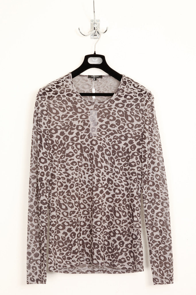UNCONDITIONAL dark leopard burn out round neck long sleeve t-shirt.
