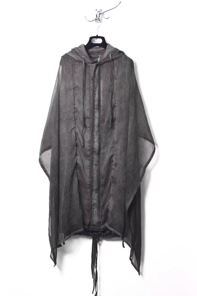 UNCONDITIONAL Military cold dye drape layer sleeveless hooded parka