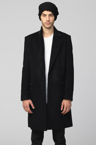 UNCONDITIONAL SS19 Signature Black cutaway jacket with black leather shoulders