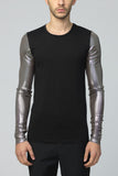 UNCONDITIONAL Long contrast sleeved Black | Mercury T-shirt