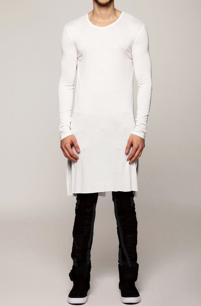 UNCONDITIONAL SS19 White 3/4 length long tail T-shirt