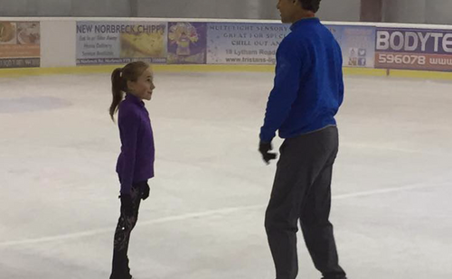 Skating Lesson ( zoom lesson too )