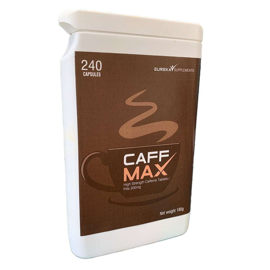 CaffMax - High Strength Caffeine Tablets / Pills 200mg