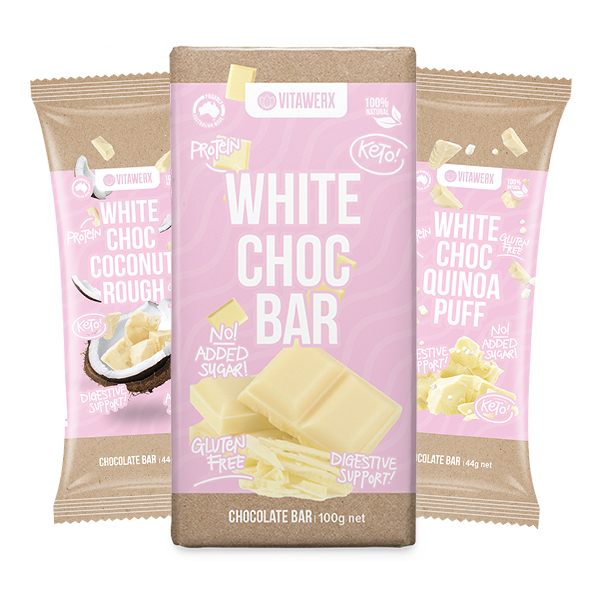 VITAWERX Protein White Choc Coconut Rough Bar 100g Block
