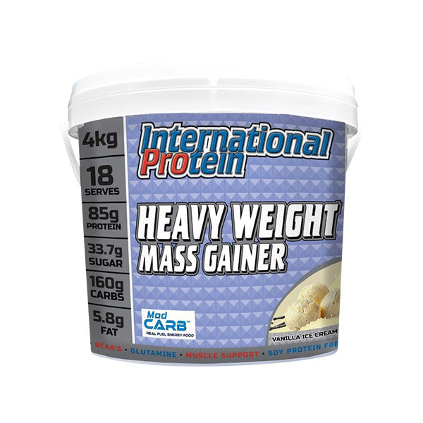 Heavy Weight Mass Gainer by International Protein Chocolate 4kg