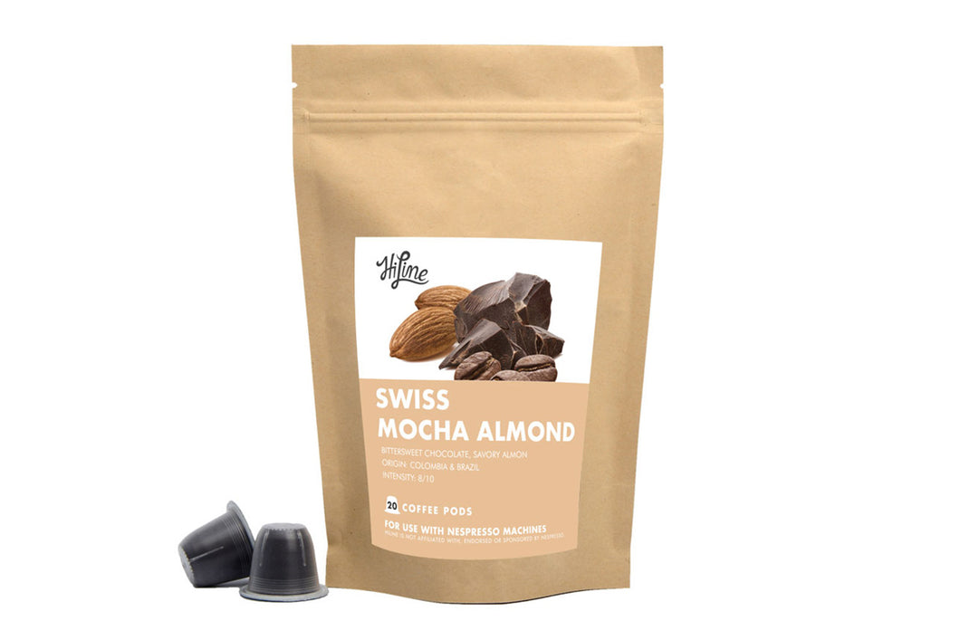 Swiss Mocha Almond <br> 20 Pods for Nespresso