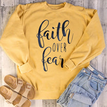 Load image into Gallery viewer, Faith over Fear sweatshirt
