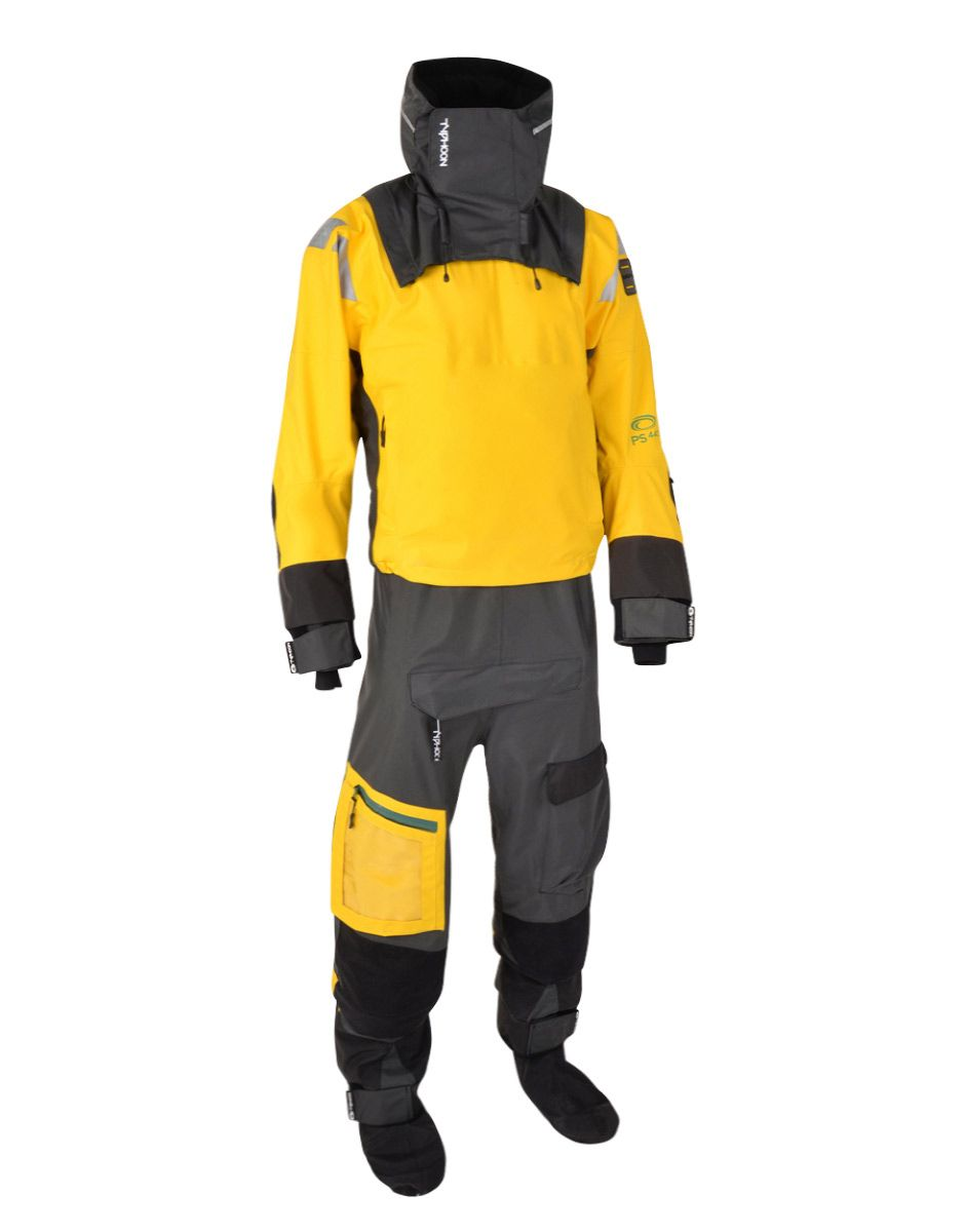 Typhoon PS440 Hinge-Entry Drysuit in Yellow