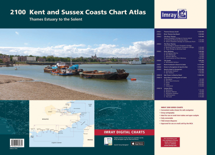Imray 2100 Kent And Sussex Coasts Chart Pack