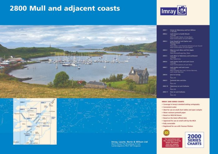 Imray 2800 Mull And Adjacent Coats Chart Pack