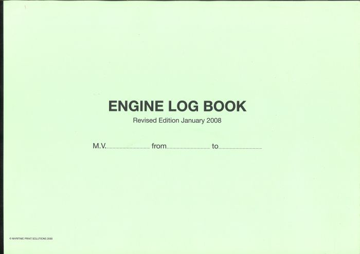Engine Log Book  / Chief Engineer Log Book