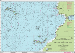 Imray C20 Chart: Strait Of Gibraltar To Arquipelago Dos Acores And Islas Canaries