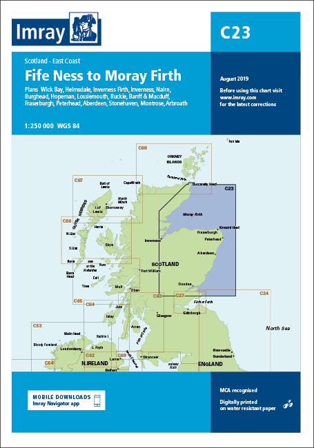 Imray C23 Chart: Fife Ness To Moray