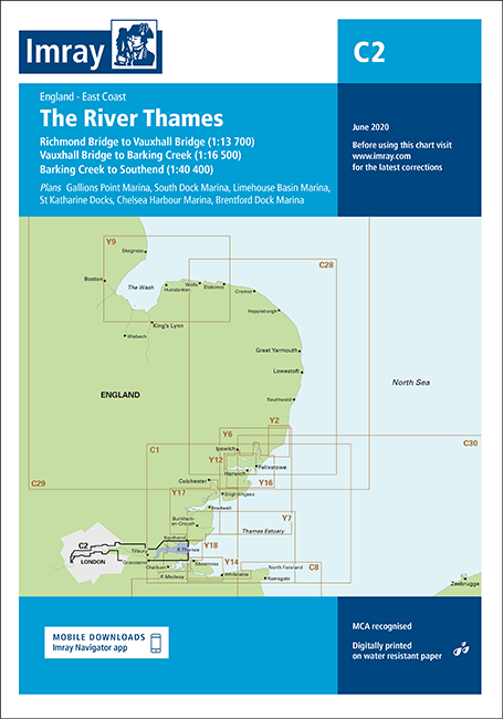 Imray C2 Chart: The River Thames