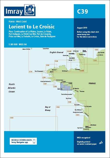 Imray Chart C39: Lorient To Le Croisic