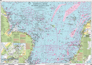 Imray C25 Chart: Harwich To River Humber And Holland