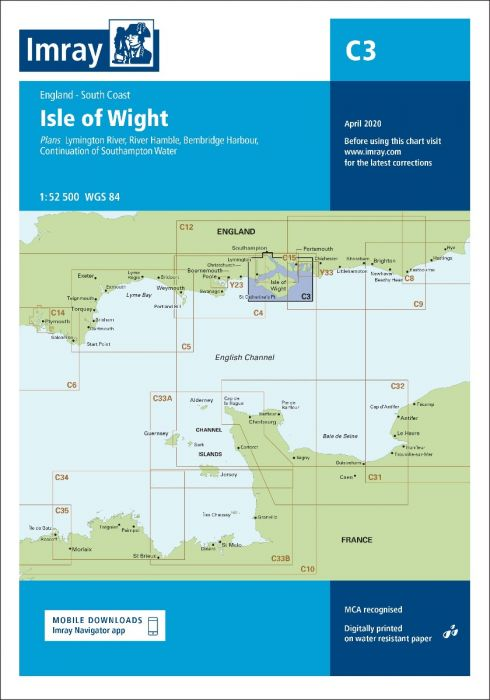 Imray C3 Chart: Isle Of Wight