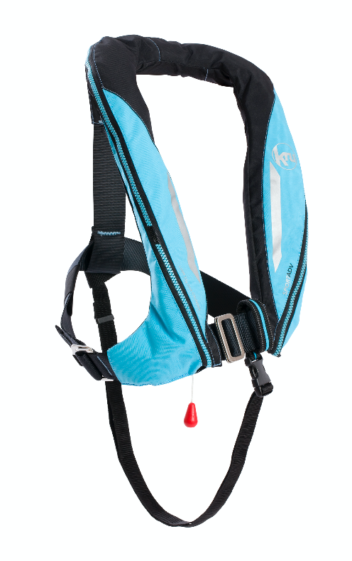 Kru Sport ProADV Automatic with Harness Lifejacket in Sky Blue / Carbon