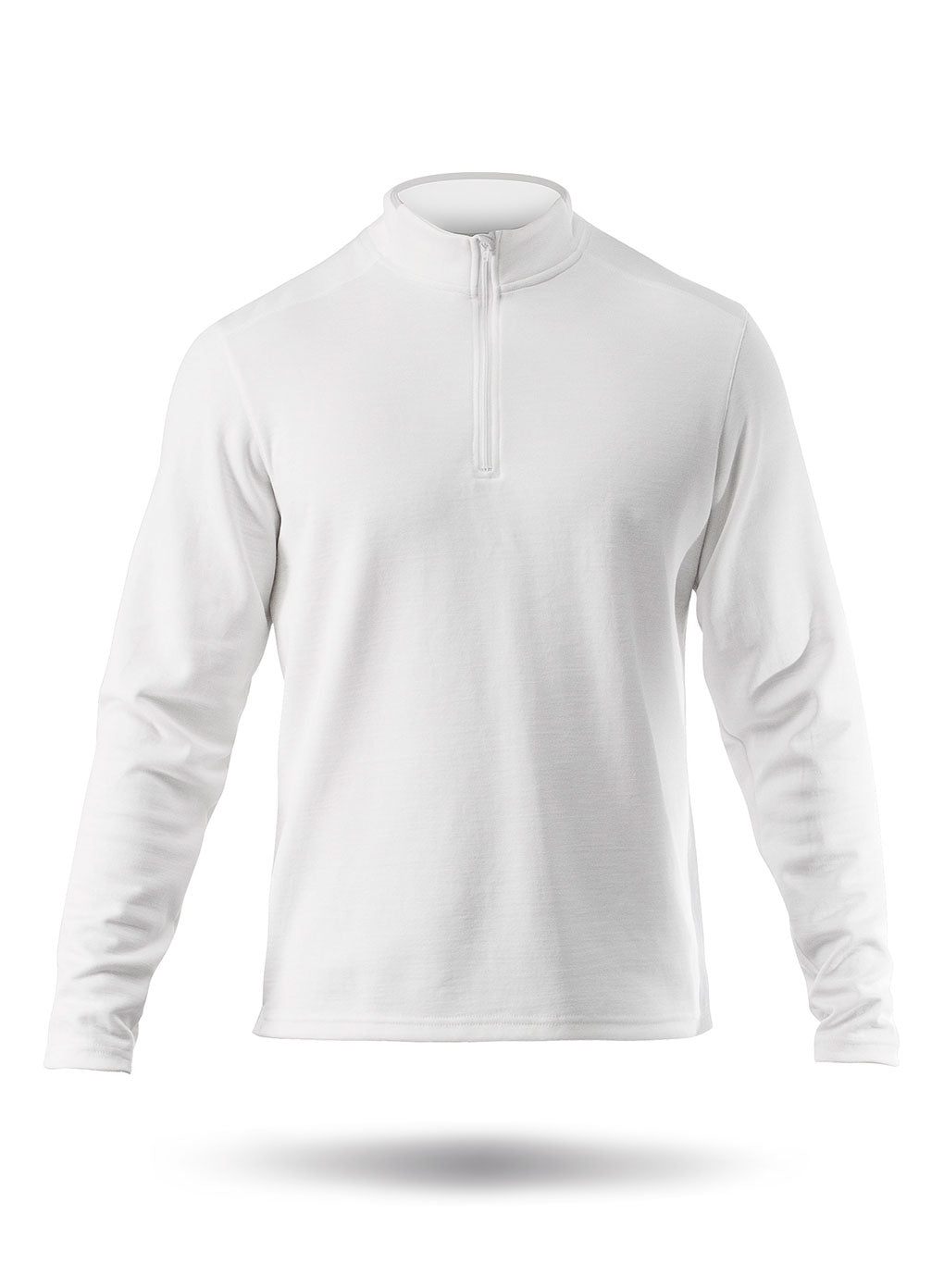 Zhik Mens Zhikdry LT 1/4 Zip Top White