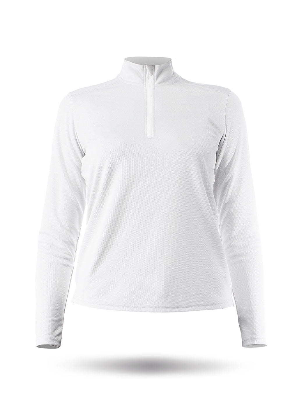 Zhik Womens Zhikdry LT 1/4 Zip Top White