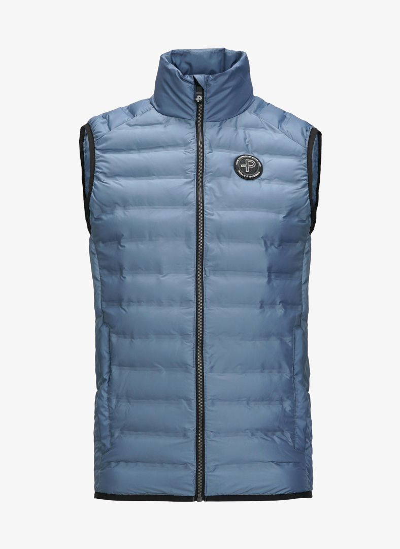 Pelle P Men's Mizzen Vest in Denim