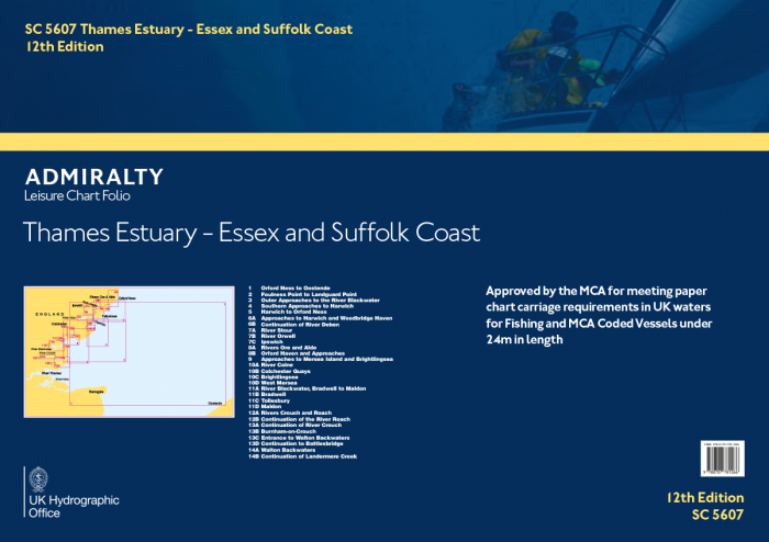 SC5607 Thames Estuary - Essex And Suffolk Coasts ( 12th Edition)