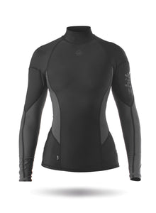 Zhik Women's Long Sleeve Spandex Top in Black