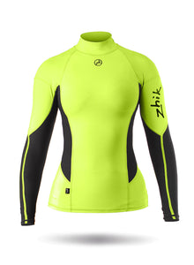 Zhik Women's Long Sleeve Spandex Top in HIVIS Yellow