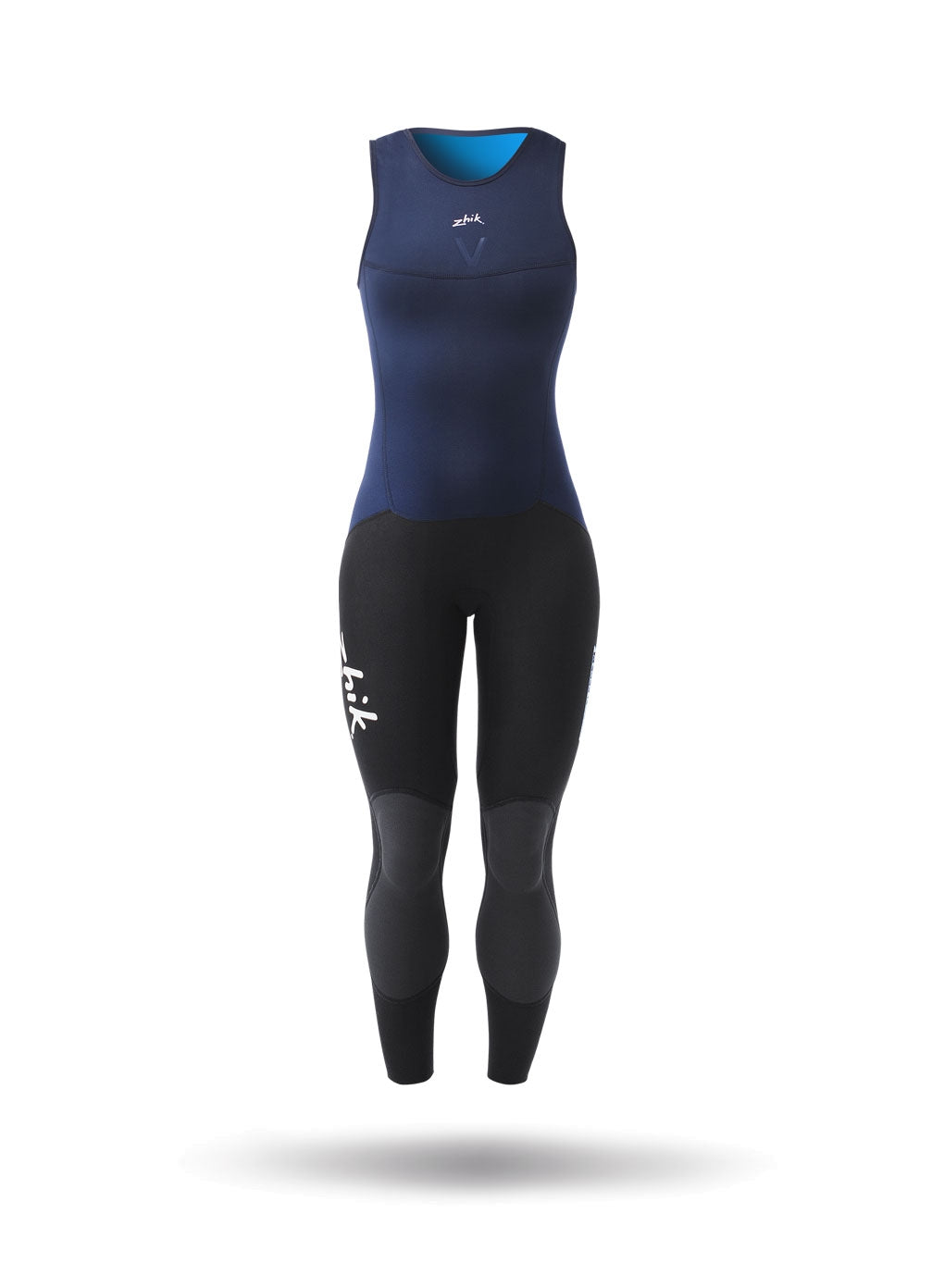 Zhik Womens Microfleece V Skiff Suit - Navy Blue