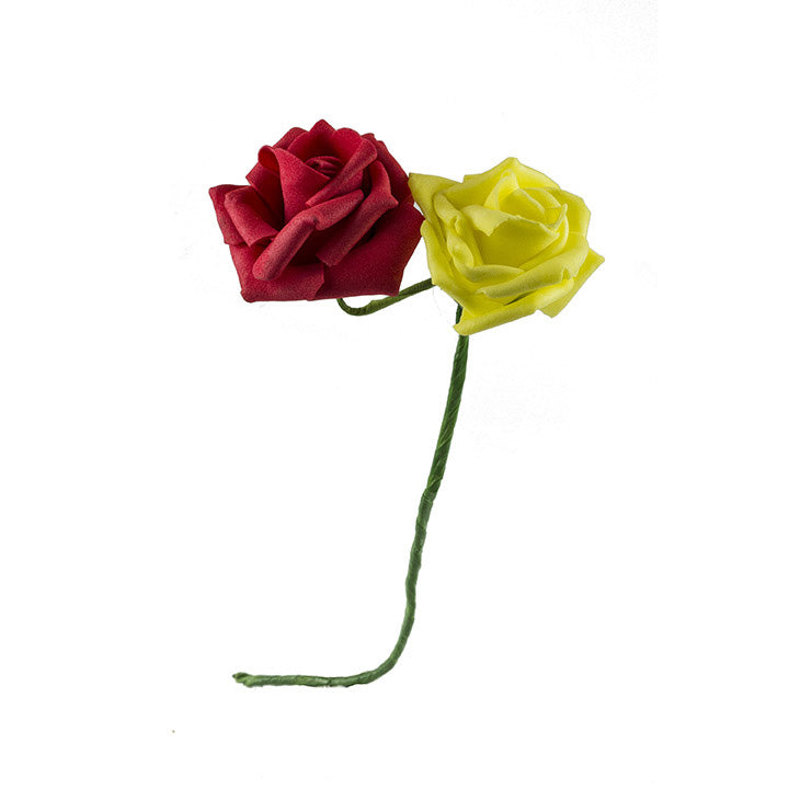 Minden Day Roses - Red/Yellow - Foam