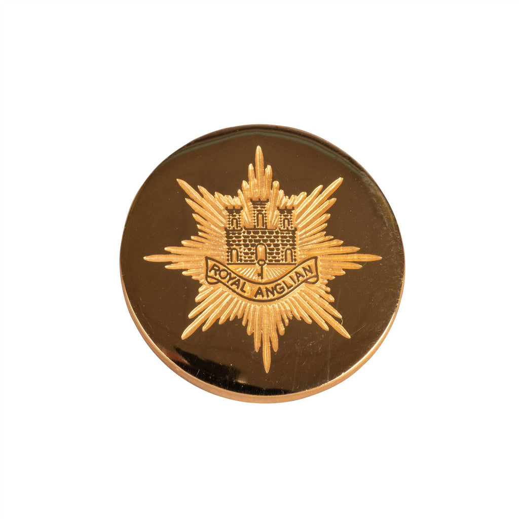 "Blazer Button - Stamped ""Cap Badge"""