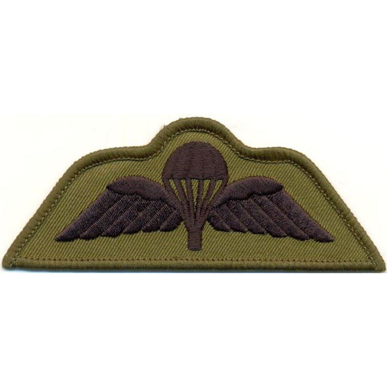 Badge - Para Wings - Black on Olive (subdued)