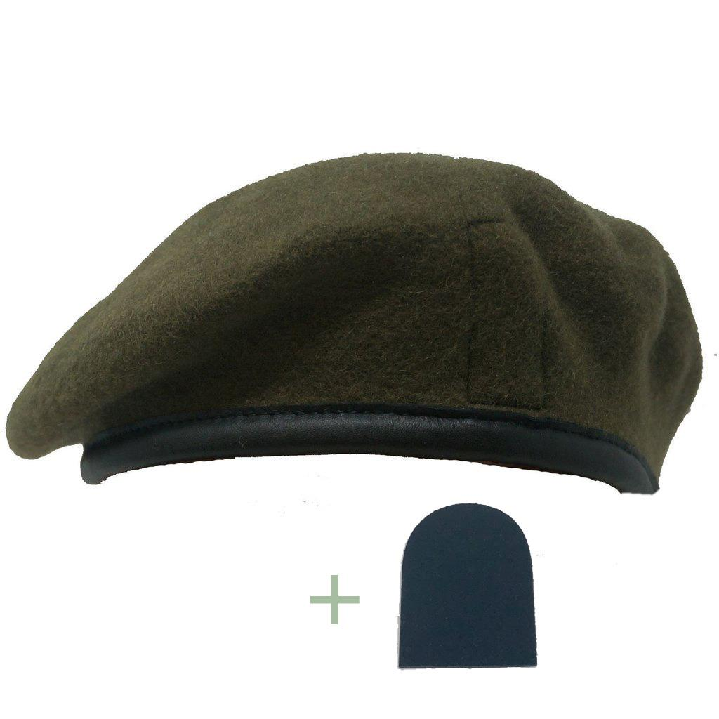 Royal Anglian Black Patch & Khaki Small Crown Beret