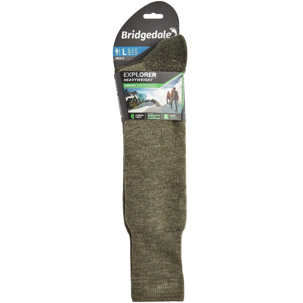 Bridgedale Explorer Heavyweight Merino Performance Knee Unisex - (Black) (Previously Summit Knee)