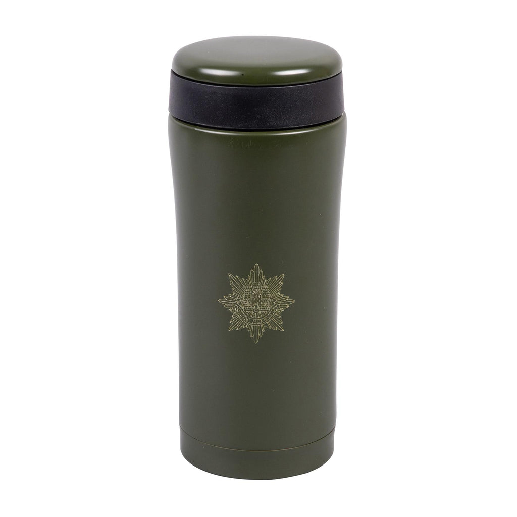 330ml Flask - Royal Anglian Badge Engraved - Olive Green