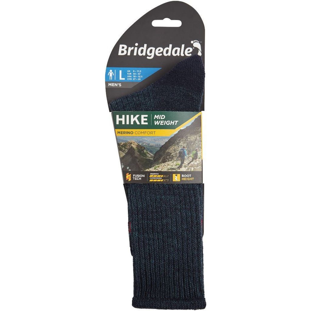 Bridgedale Hike Midweight Merino Comfort Mens - (Navy) (Previously Trekker)