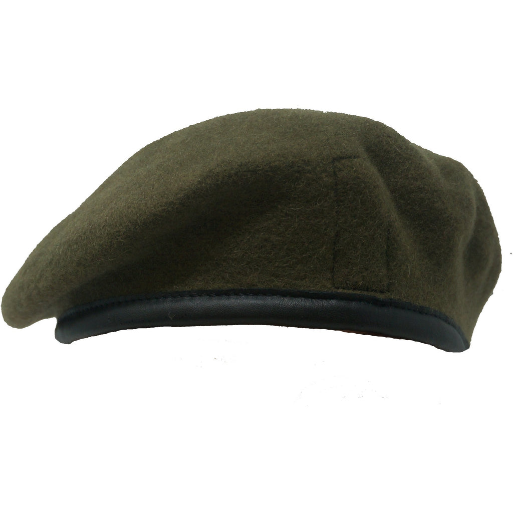 Royal Anglian Khaki Beret - Blue Silk Lined