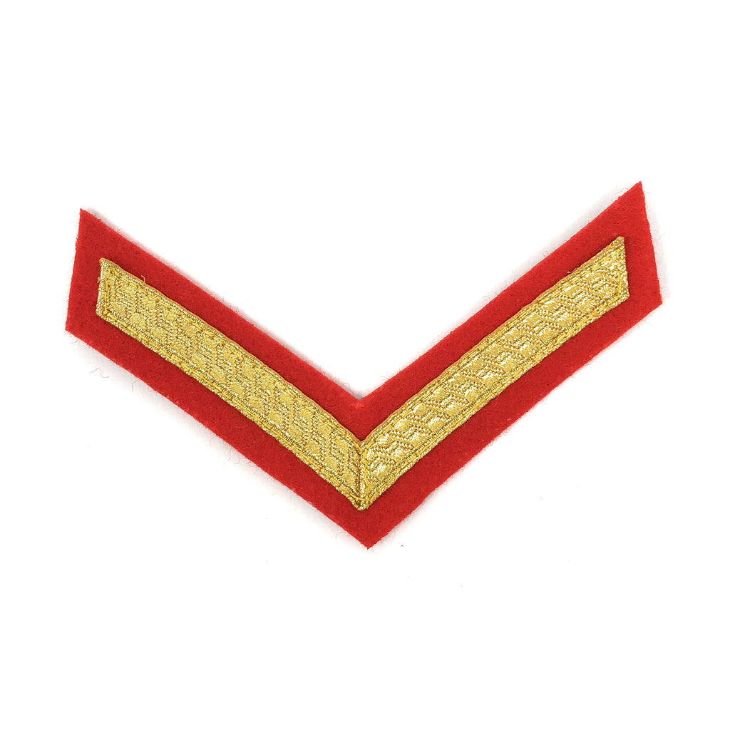 Mess Dress - Chevrons - Gold on Scarlet - L/Cpl